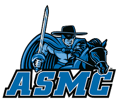 ASMC logo with Moorpark College Raider mascot above it.