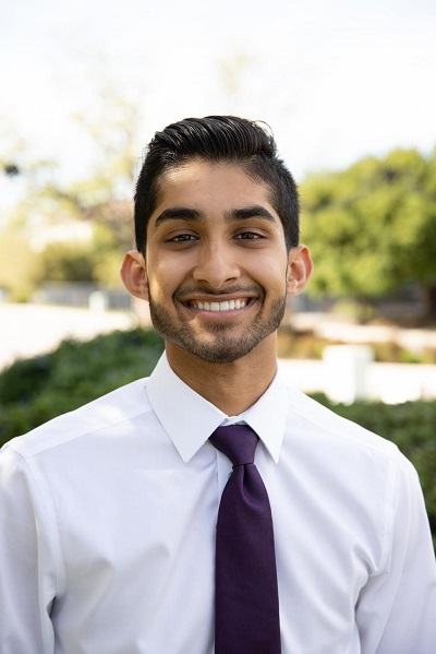 Director of Budget + Finance Sahil Vig smiles for the camera