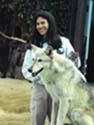 Holly Tumas and Legend, the Gray Wolf