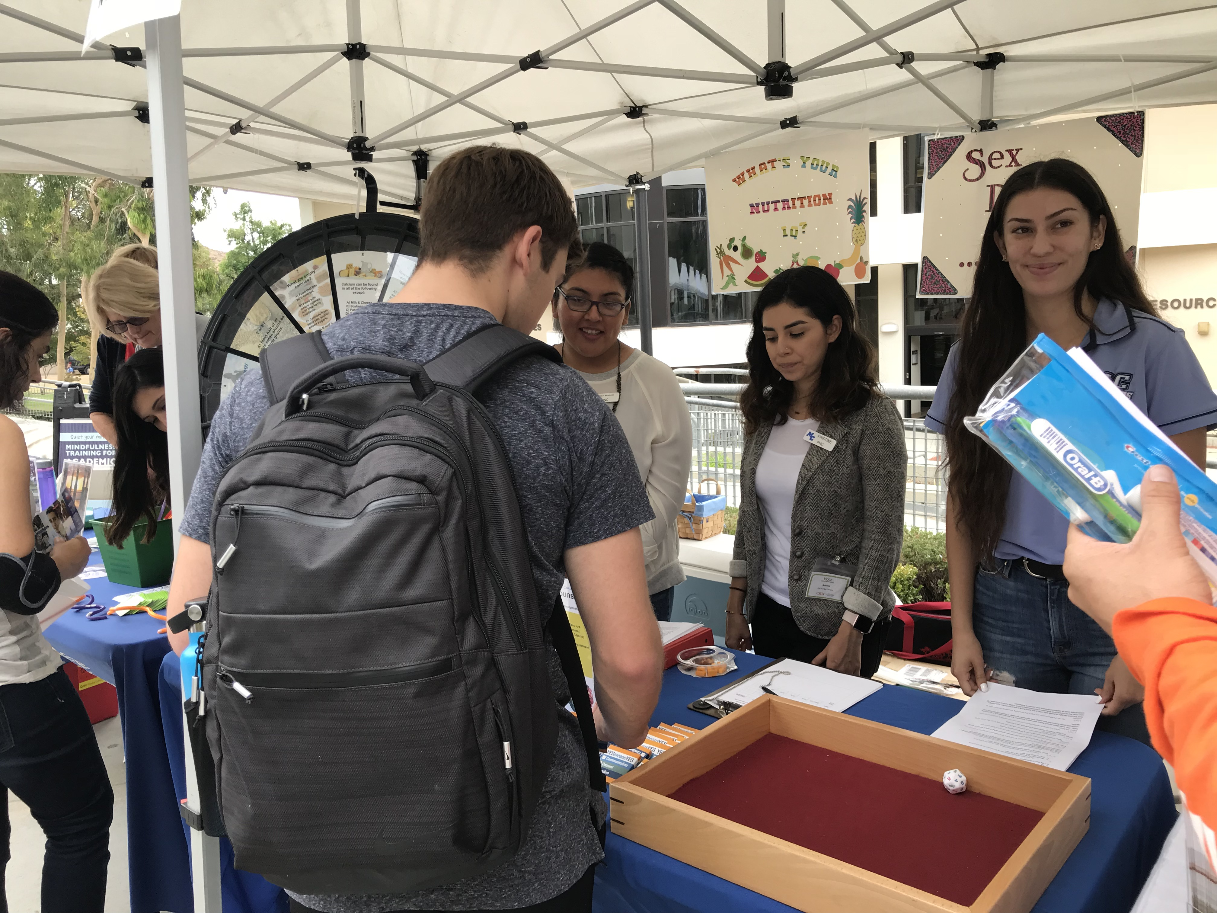Moorpark College Students Play Health Education Games at the Health Fair