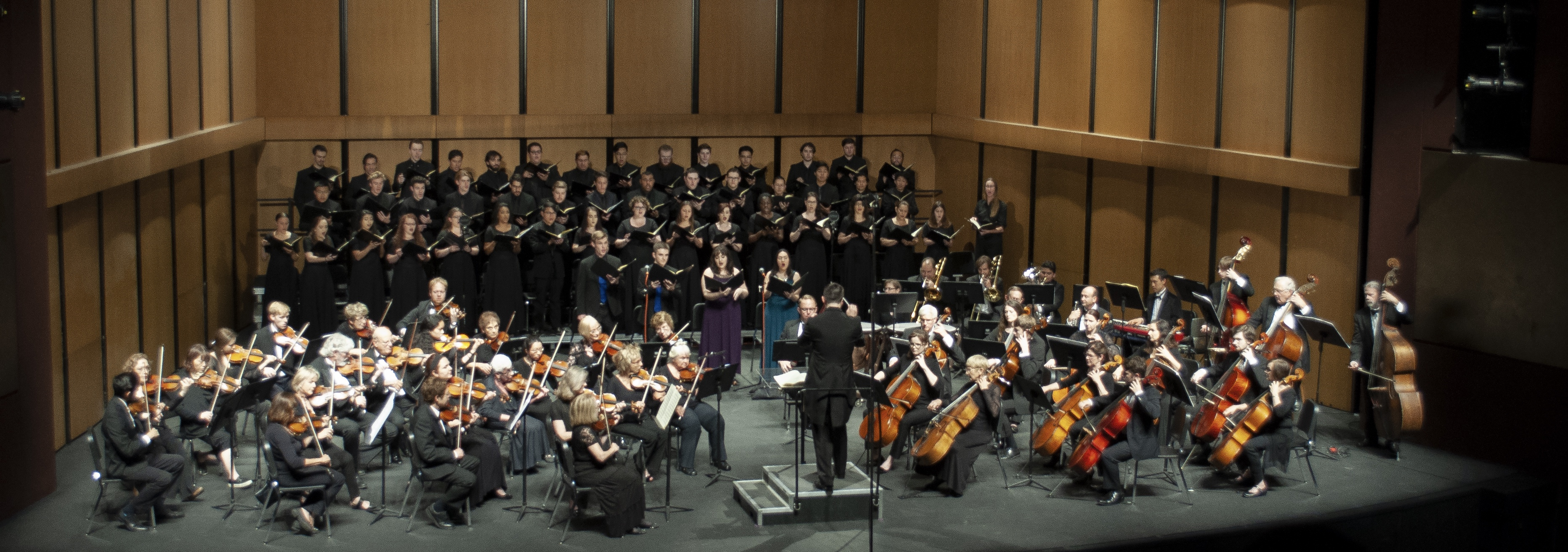 choir and orchestra in concert