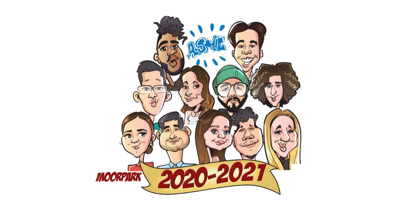 ASMC Board members are depicted as caricatures.