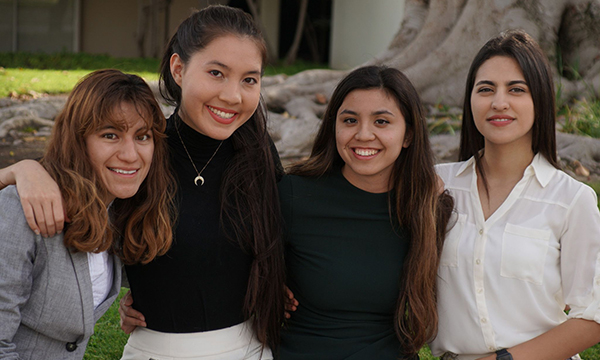 A group of four female students.
