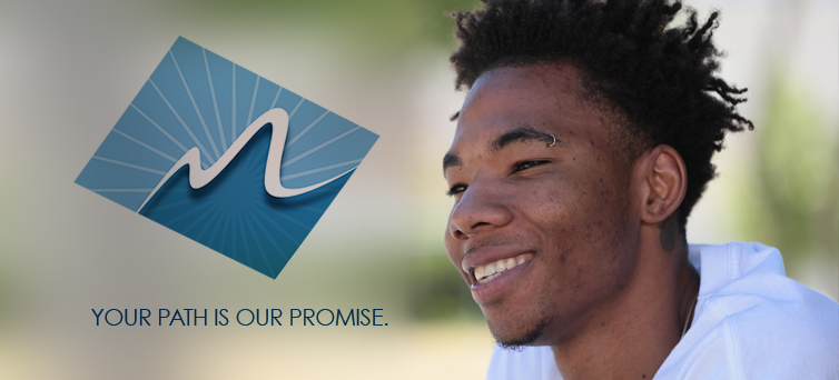 photo of young black male with promise logo superimposed