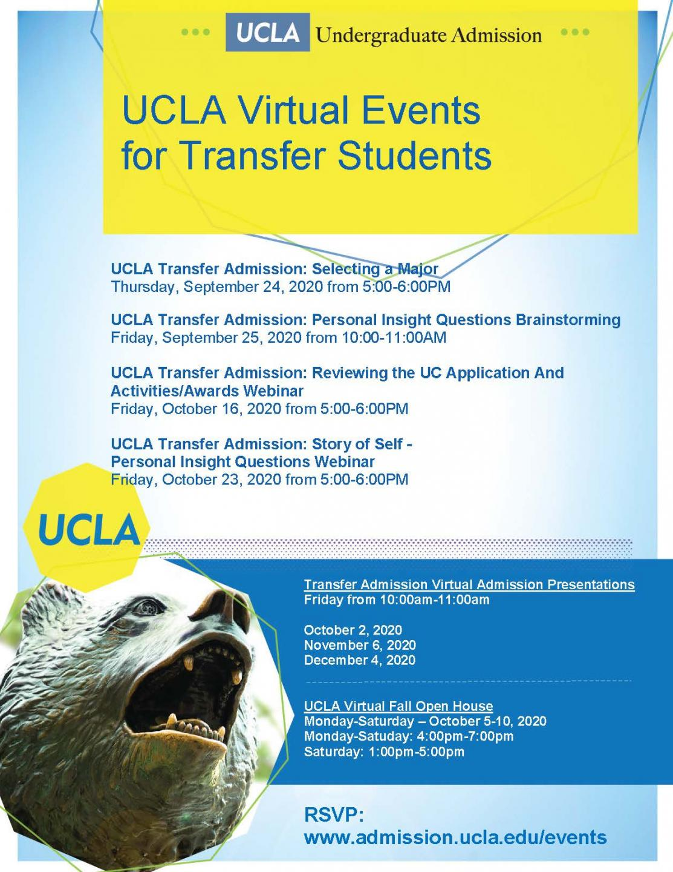 UCLA Transfer Virtual Events