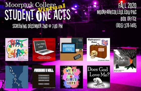 Fall 2020 One Acts Flyer