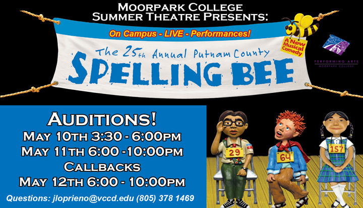 """25th Annual Putnam County Spelling Bee"" Auditions Notice"