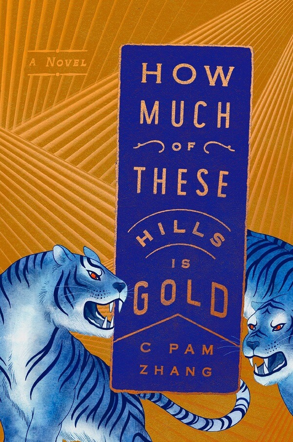 Illustrative elements in gold and purple book cover of how much of these hills is gold