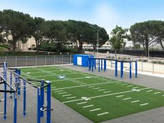 functional outdoor training space
