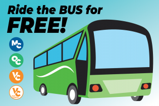 ride the bus for free graphic