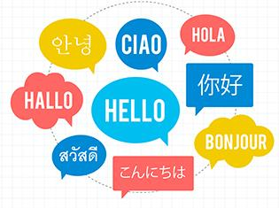"A visual chart of the word ""Hello"" translated into several different languages."