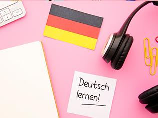 notebook with german flag