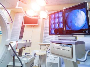 Inside a medical office with advanced imaging equipment.
