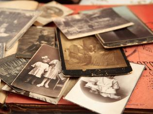 A collection of old sepia toned photos.