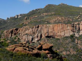 Echo cliffs in the Santa Monica Mountains