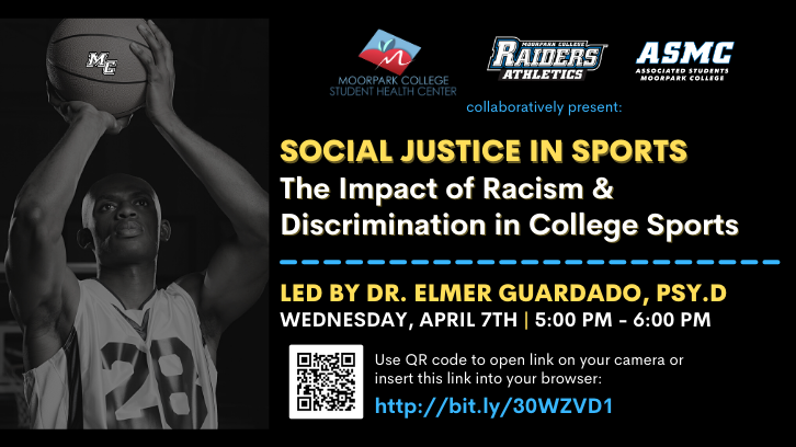 Social Justice in Sports flyer for April 7 event